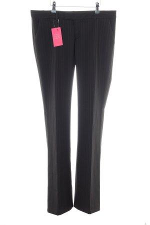 Zara Basic Anzughose schwarz Streifenmuster Business-Look