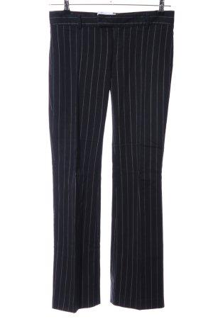 Zara Basic Anzughose schwarz-weiß Streifenmuster Business-Look