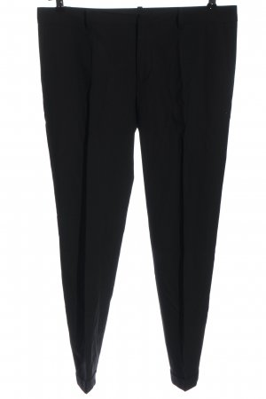 Zara Basic Anzughose schwarz Business-Look