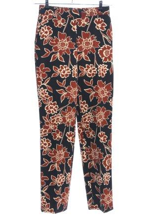 Zara Basic Anzughose Blumenmuster Casual-Look