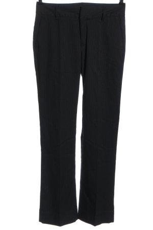 Zara Basic Suit Trouser black striped pattern business style