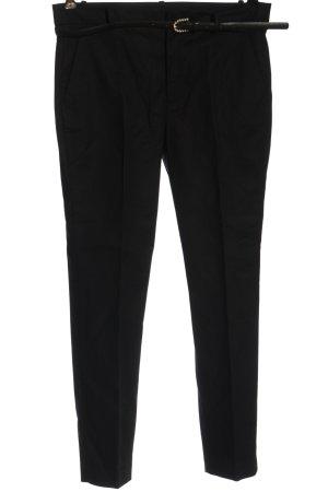 Zara Basic Anzughose schwarz Casual-Look