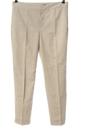 Zara Basic Spodnie garniturowe kremowy W stylu biznesowym