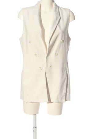 Zara Basic Waistcoat white business style