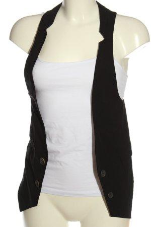 Zara Basic Gilet de costume noir style décontracté