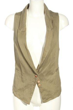 Zara Basic Anzugweste khaki Business-Look