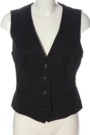 Zara Basic Waistcoat black leopard pattern casual look