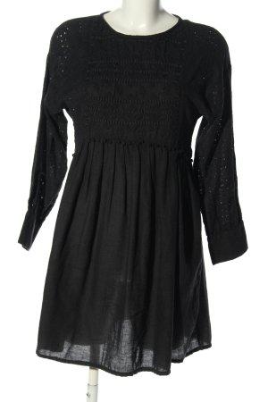 Zara Basic Babydoll-jurk zwart casual uitstraling