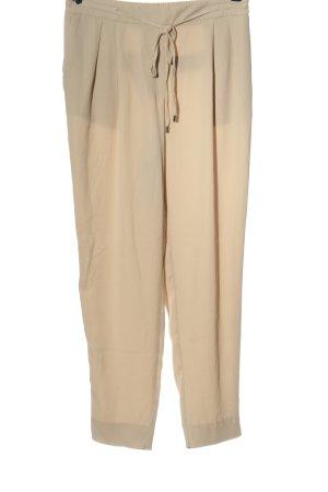 Zara Basic Pantalone largo crema elegante