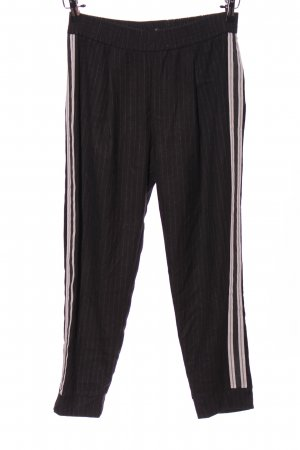 Zara Basic Chinos black-white striped pattern casual look