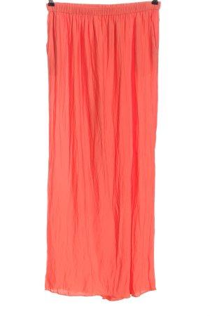 Zara Basic Pantalone largo rosso stile casual
