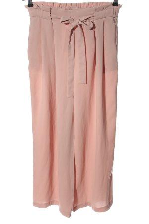 Zara Basic Pantalone largo rosa elegante