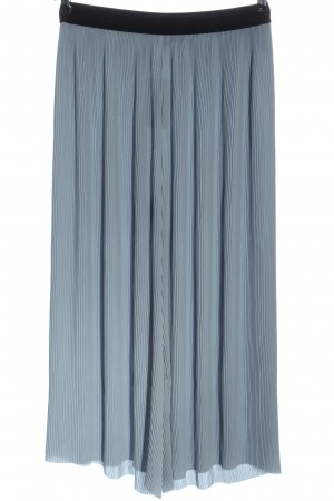 Zara Basic Pantalone largo blu-nero stile casual