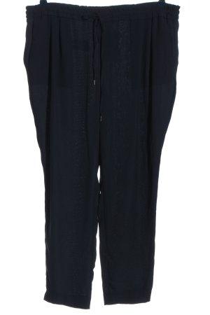 Zara Basic Luźne spodnie czarny W stylu casual