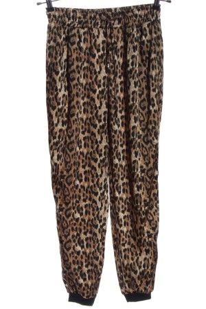 Zara Basic Pantalone largo marrone stampa integrale stile casual