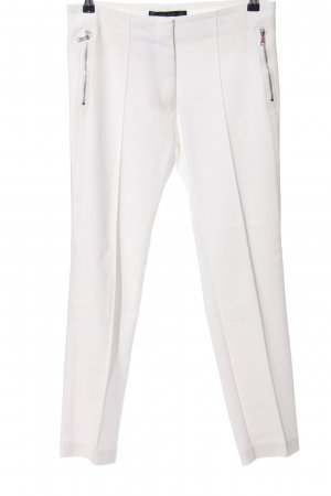 Zara Basic Stretchhose weiß Casual-Look