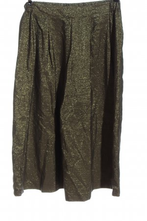 Zara Basic Pantalone largo bronzo stile casual