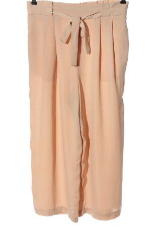 Zara Basic Pantalone largo color carne stile casual