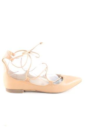 Zara Basic Ballerinas mit Spitze creme Casual-Look