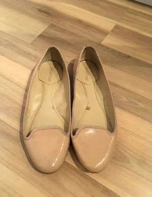 Zara Basic Ballerinas Slipper Flats Nude Beige 37
