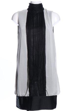 Zara Basic Ballonkleid schwarz-hellgrau Elegant