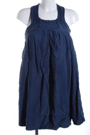Zara Basic vestido de globo azul look casual