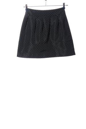 Zara Basic Falda globo negro-blanco estampado repetido sobre toda la superficie