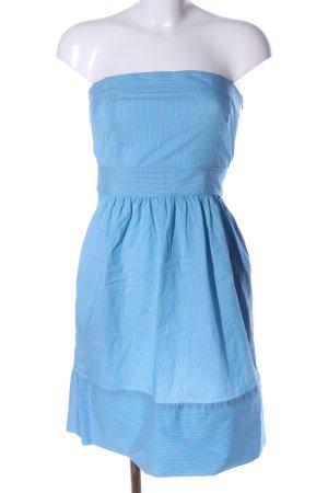 Zara Basic Bandeaukleid blau-weiß Streifenmuster Casual-Look