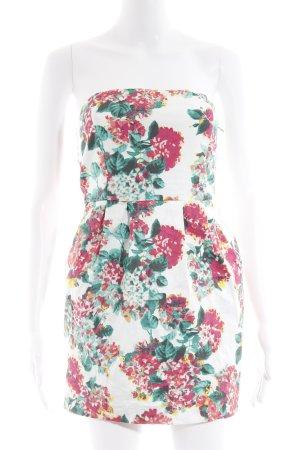 Zara Basic Bandeaukleid Blumenmuster Casual-Look