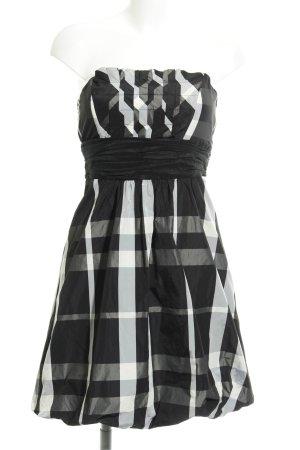 Zara Basic Bandeau Dress check pattern party style