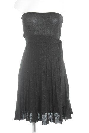 Zara Basic Bandeaukleid schwarz-silberfarben meliert Elegant