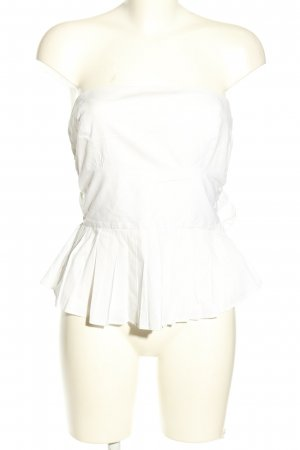 Zara Basic Bandeau top wit casual uitstraling