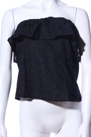 Zara Basic Bandeau Top black casual look