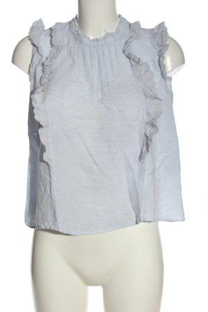 Zara Basic Blusentop blau meliert Casual-Look