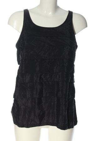 Zara Basic Basic Top schwarz Casual-Look