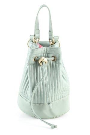 Zara Basic Beuteltasche türkis Steppmuster Casual-Look