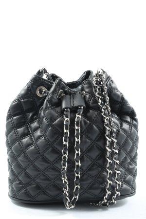 Zara Basic Beuteltasche schwarz Steppmuster Casual-Look