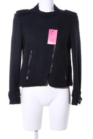 Zara Basic Giacca da motociclista nero stile casual