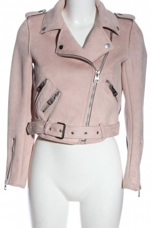 Zara Basic Biker Jacket pink casual look