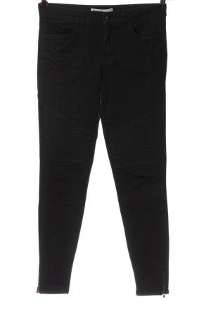 Zara Basic Biker jeans zwart casual uitstraling