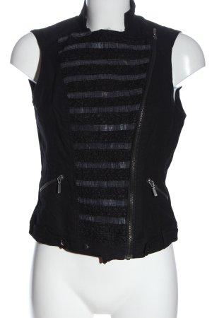 Zara Basic Chaleco de motorista negro look casual