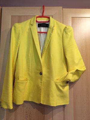Zara Basic Blazer gelb Größe L