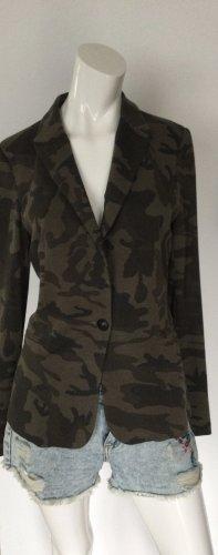 Zara Basic Blazer in Camouflage Muster Gr L