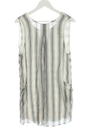Zara Basic Minikleid weiß Streifenmuster Casual-Look