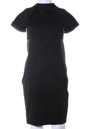 Zara Basic Bleistiftkleid schwarz-weiß Streifenmuster Casual-Look