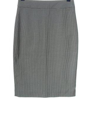 Zara Basic Bleistiftrock schwarz-weiß Allover-Druck Business-Look