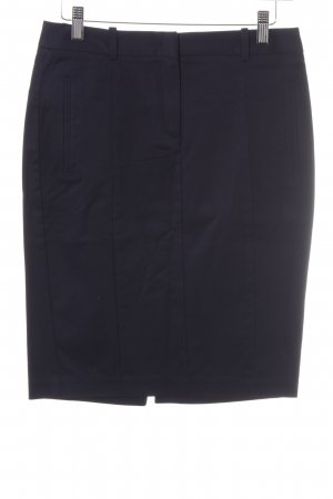 Zara Basic Bleistiftrock dunkelblau Business-Look