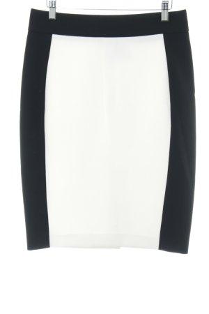 Zara Basic Bleistiftrock schwarz-weiß Streifenmuster Business-Look