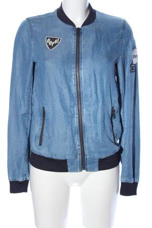 Zara Basic Blouson blau Casual-Look