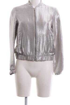 Zara Basic Blouson silberfarben Glanz-Optik